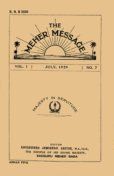 The Meher Message v1 no 7
