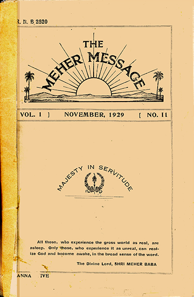 the meher message v1 no 11