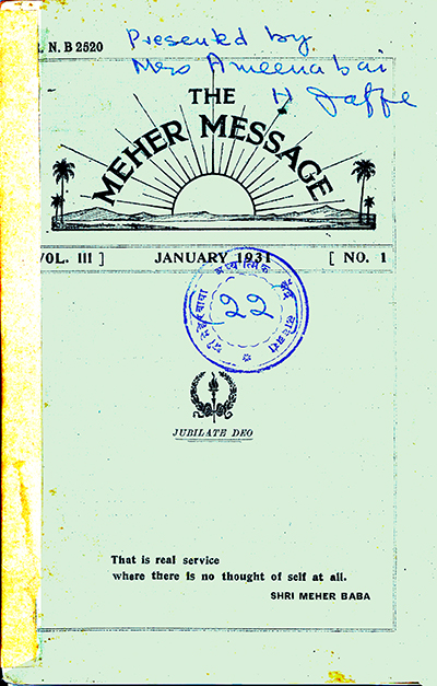 the meher message magazine
